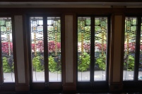Window in a Frank Lloyd Wright designed home