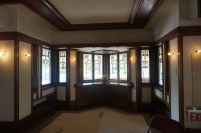 Living Room Windows in the Robie House by Frank Lloyd Wright